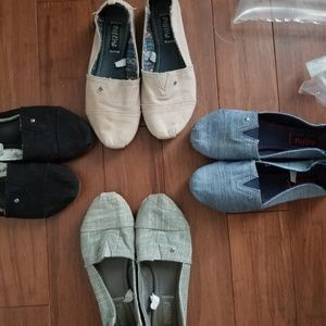 4 Pairs of Toms like MadLove Slip Ons